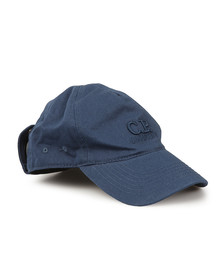 CP Company Undersixteen Boys Blue Hat With Goggles