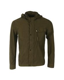 CP Company Mens Green Goggle Hood Overshirt