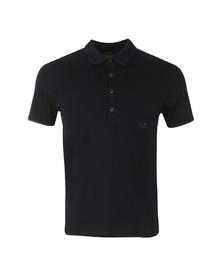 CP Company Mens Blue Denim Look Polo Shirt