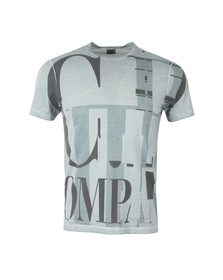 CP Company Mens Blue Large Logo T Shirt