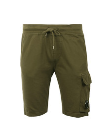 CP Company Mens Green Viewfinder Sweat Short