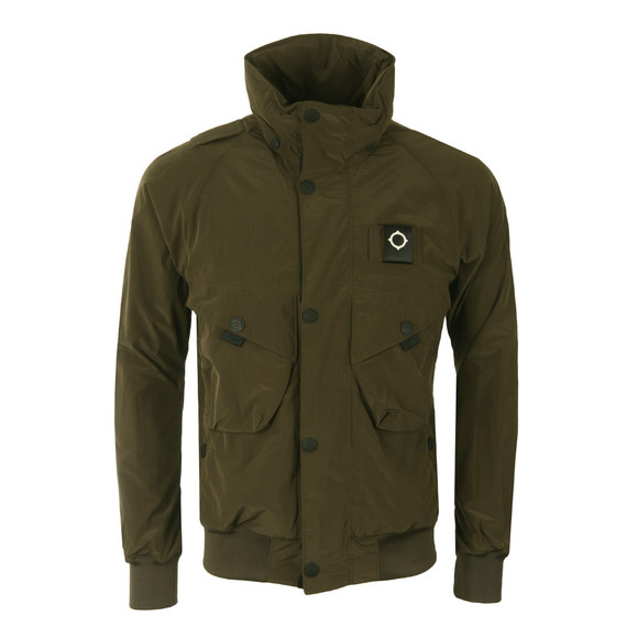 Ma.Strum Mens Green Sultan Bomber Field Jacket main image