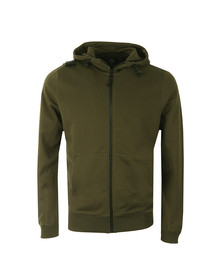 Ma.Strum Mens Green Patton Pouch Pocket Zip Hoody