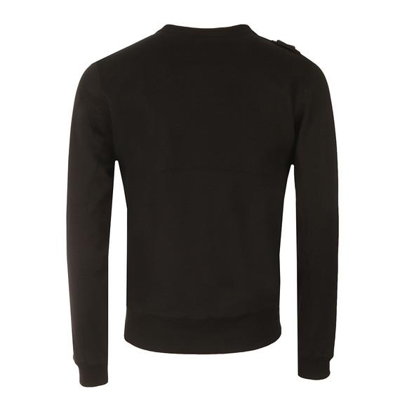 Ma.Strum Mens Black Hobart Pouch Pocket Crew Sweatshirt main image