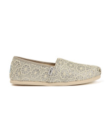 Toms Womens Silver Classic Crochet