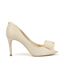 Ted Baker Womens Off-white Alifair Text Heel