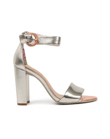 Ted Baker Womens Silver Secoa Leather Heel