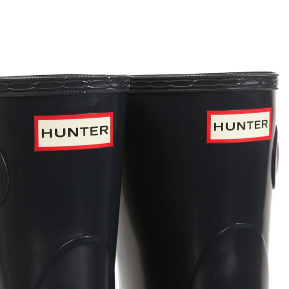 Hunter Womens Blue Original Gloss Short Wellington main image