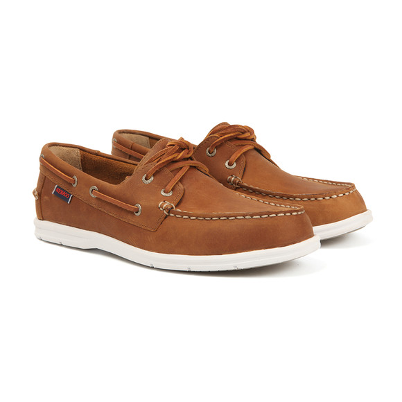 Sebago Mens Brown Litesides Two Eye Boat Shoe  main image