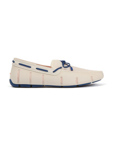Swims Mens White Braided Lace Loafer