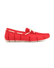 Swims Mens Red Braided Lace Loafer