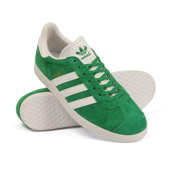 Adidas Originals Mens Green Gazelle Trainer main image