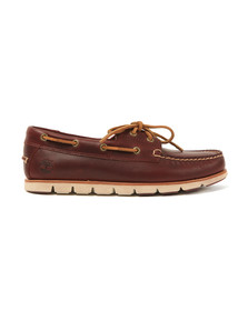 Timberland Mens Red 2 Eye Boat Shoe