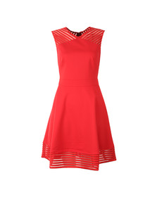 Ted Baker Womens Orange Eleese Mesh Detail Skater Dress