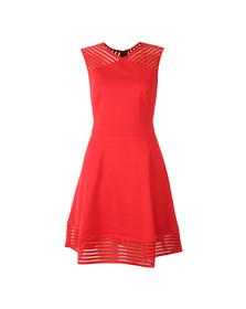 Ted Baker Womens Orange Eleese Mesh Detail Skater Dress