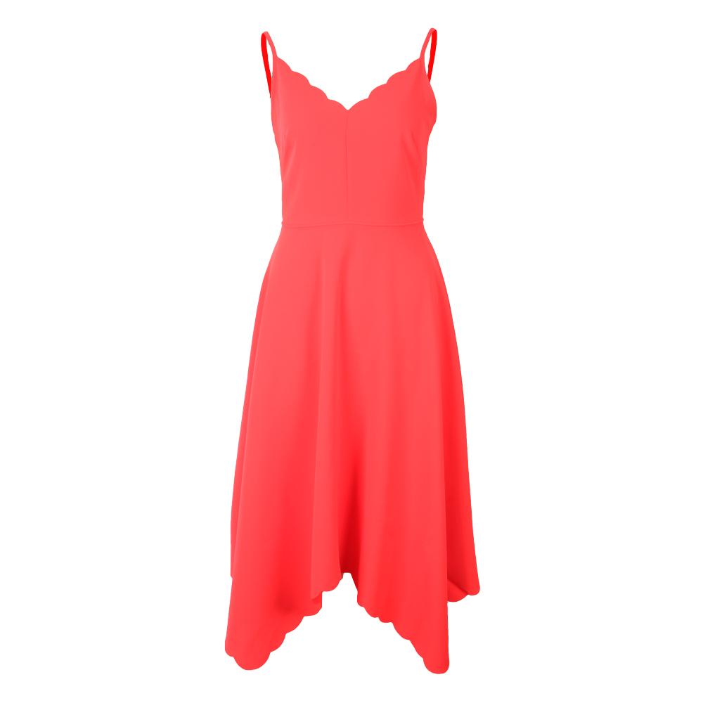 Simbah Scallop Asymmetric Hem Dress main image
