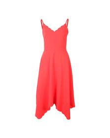 Ted Baker Womens Orange Simbah Scallop Asymmetric Hem Dress