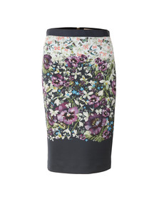 Ted Baker Womens Blue Carpi Enchantment Pencil Skirt