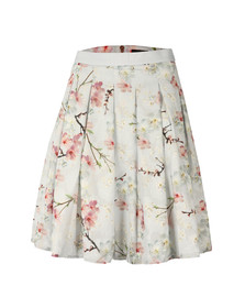 Ted Baker Womens Grey Tillye Oriental Blossom Burnout Skirt
