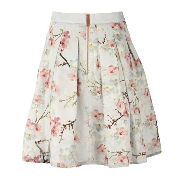 Ted Baker Womens Grey Tillye Oriental Blossom Burnout Skirt main image