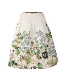 Ted Baker Womens Off-white Miolla Gem Garden Bow Back Skirt