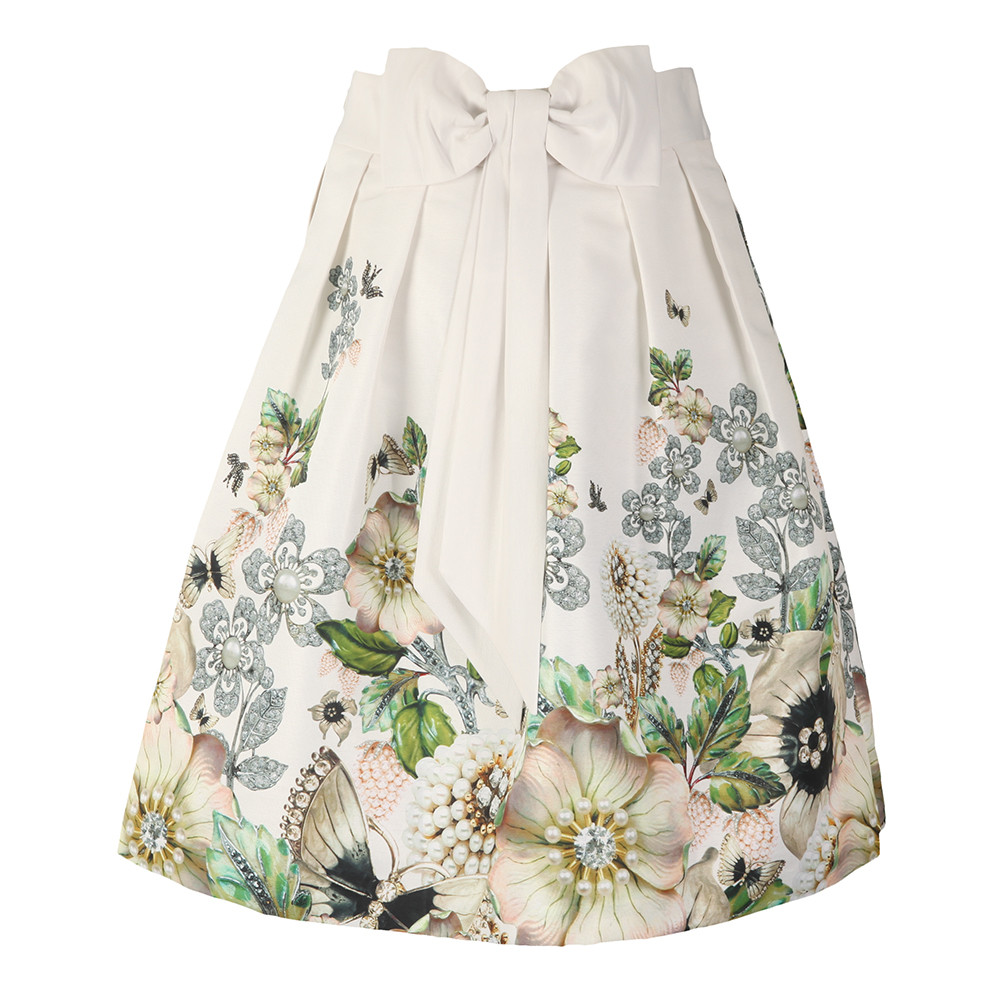 Miolla Gem Garden Bow Back Skirt main image
