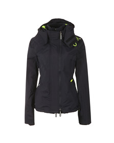 Superdry Womens Blue Tech Hooded Pop Zip Windcheater