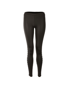 Adidas Originals Womens Black Taped Logo Leggings