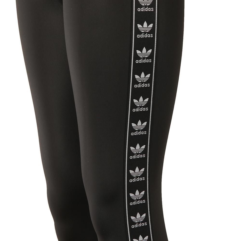 319bbf05492e89 ... adidas Originals Womens Black Taped Logo Leggings main image ...