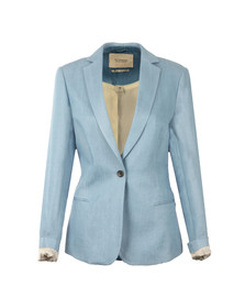 Maison Scotch Womens Blue Tailored Tencel Blazer