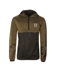 Eleven Degrees Mens Green Over Head Fishtail Jacket