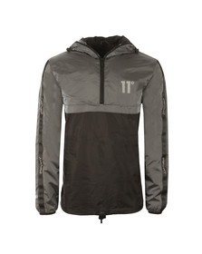 Eleven Degrees Mens Grey Over Head Fishtail Jacket