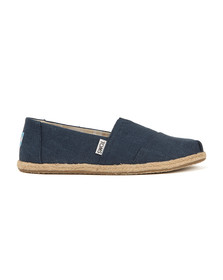 Toms Womens Blue Washed Canvas Rope Sole