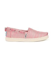 Toms Girls Pink Slubby Lurex Bimini