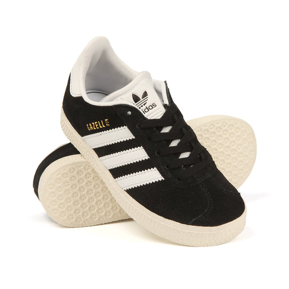 adidas Originals Boys Black Gazelle Trainer main image