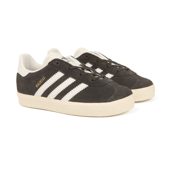 Adidas Originals Boys Grey Gazelle Trainer main image