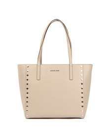 Michael Kors Womens Grey Rivington Stud Tote