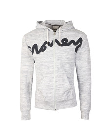 Money Mens Grey Sig Zip Through Hoody