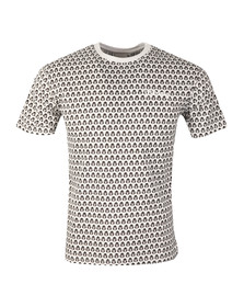 Money Mens White George AOP T Shirt