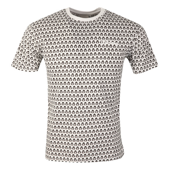 Money Mens White George AOP T Shirt main image