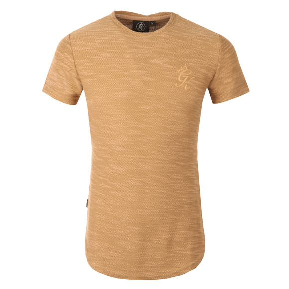 Gym king Mens Beige Curve Hem Slub Knit Tee main image