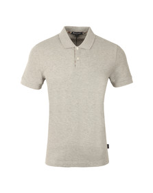 Aquascutum Mens Grey Hector CC Pique Polo Shirt