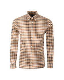 Aquascutum Mens Brown Emsworth LS CC Shirt