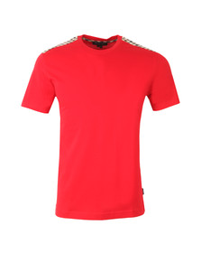 Aquascutum Mens Red Noel CC Detail T-Shirt