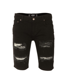 Sik Silk Mens Black Distressed Denim Shorts