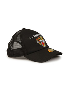 Ed Hardy Mens Black Big Cat Snapback