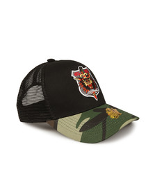 Ed Hardy Mens Black Hell Cat Snapback
