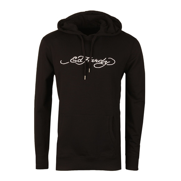 Ed Hardy Mens Black Drawn Roar Hoody main image