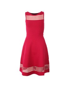 French Connection Womens Pink Tobey Crepe Knit Dress