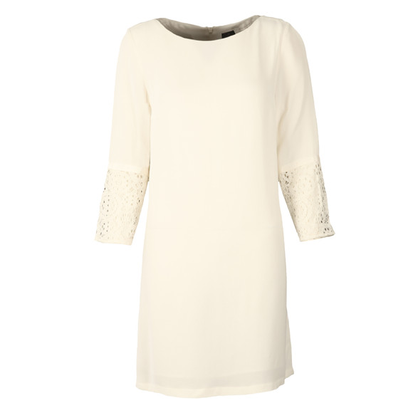 French Connection Womens White Ensore Crepe Tunic Dress main image